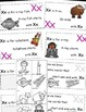 Letter X Alphabet Emergent Reader and Cut and Paste Activities Reader