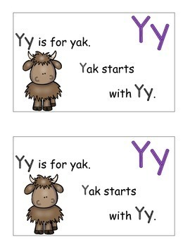 Letter Y Alphabet Emergent Reader and Cut and Paste Activities Reader