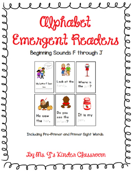 Alphabet Emergent Readers: Beginning Sounds F to J