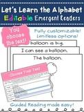 Alphabet Emergent Reader Books- *Editable*