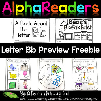 Alphabet Emergent Readers Letter Bb Preview Freebie