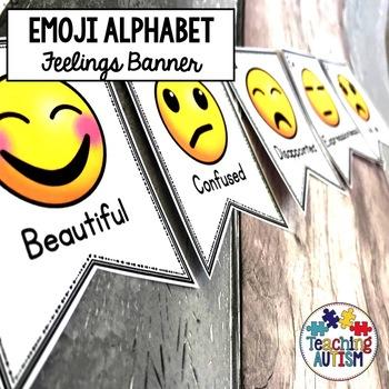 Alphabet Emoji Banner, Class Decor