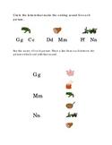 Alphabet Ending Consonants Letters G M N Kindergarten