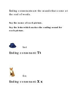 Alphabet Ending Consonants Letters T X Kindergarten