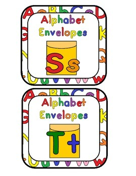 Alphabet Envelope Ss and Tt