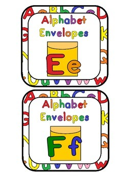 Alphabet Envelopes Ee and Ff