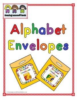 Alphabet Envelopes Ee and Ff