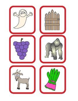 Alphabet Envelopes Gg and Hh