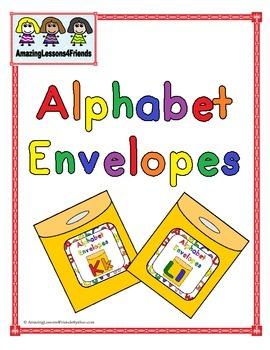 Alphabet Envelopes Letters Kk and Ll