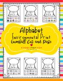 Alphabet Environmental Print Gumball Cut and Paste