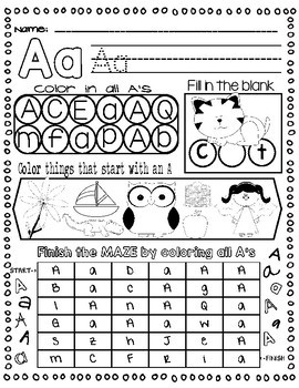 ABC Letter Practice: Learning the Alphabet the Easy Way