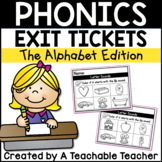 Alphabet Exit Tickets