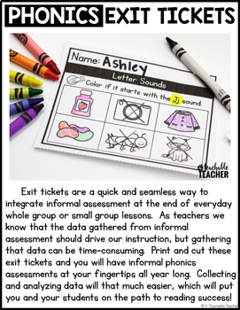 Alphabet Exit Tickets