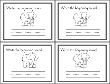Alphabet and Beginning Sounds Exit Tickets/ Quick Check