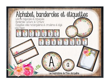 Alphabet, FRENCH Banners and Labels