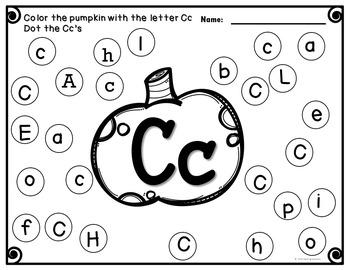 Alphabet Worksheets Fall Do a Dot