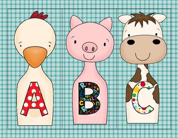 Alphabet Farm Bowling