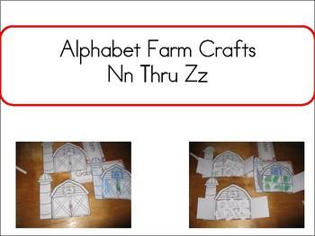 Alphabet Farm Crfats Nn thru Zz
