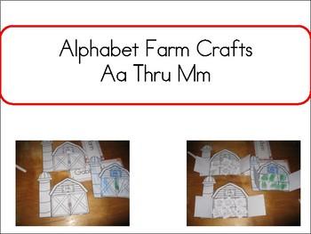 Alphabet Farn Crafts Aa thru Mm