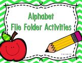 Alphabet Write and Wipe File Folder Activities