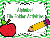 Alphabet Write and Wipe File Folder Activities