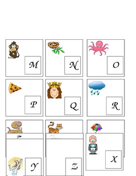 Alphabet File Folder Game
