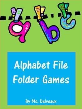 Alphabet File Folder Games