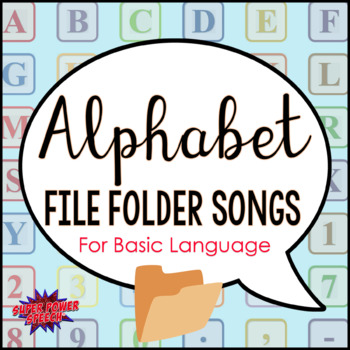 Alphabet File Folder Songs for Basic Language