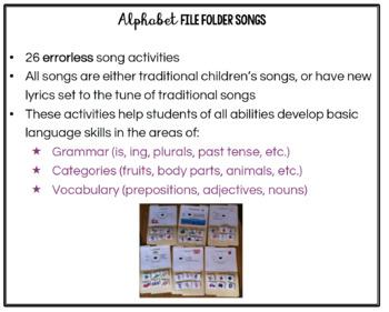 Alphabet File Folder Songs for Basic Language