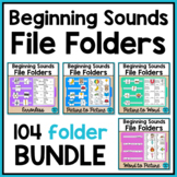 Alphabet File Folders Activities for Special Education: Beginning Sounds BUNDLE