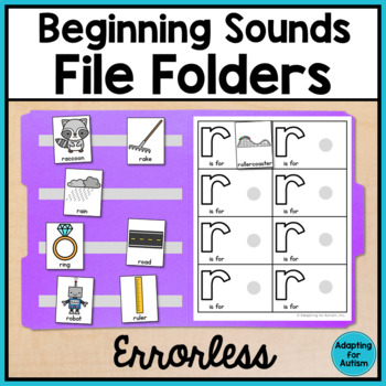 Alphabet File Folders Activities for Special Education: Beginning Sounds BUNDLE