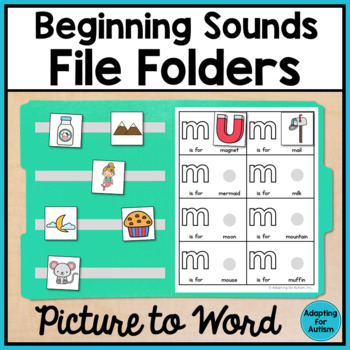 Alphabet File Folders: Interactive Beginning Sound Activit