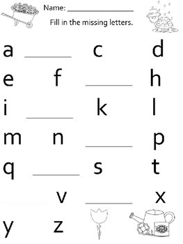 Alphabet Fill In the Blank Worksheets