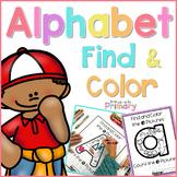 Alphabet Picture Search & Letter Coloring Sheets    Distan