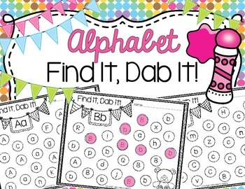 Alphabet Find It, Dab It!
