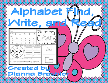 Alphabet Find, Write, and Read