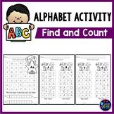 Letter Recognition Worksheets | Alphabet Worksheets Find and Count