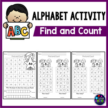 Alphabet Worksheets Find and Count
