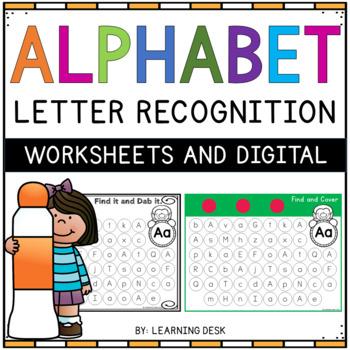 Alphabet Worksheets - Letter Recognition (Find and Dab)