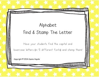 Alphabet Find and Stamp the Letter