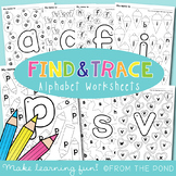 Alphabet Find and Trace Worksheets