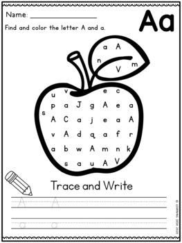 Alphabet Worksheets - Letter Recognition (Find and Trace)