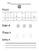 Alphabet Find it, Color it, Write it Worksheets (Lower AND Uppercase Letters)