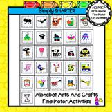 Alphabet Fine Motor Arts And Crafts Interactive Notebooks