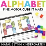 Alphabet Fine Motor Mats: Alphabet Connecting Cubes Center