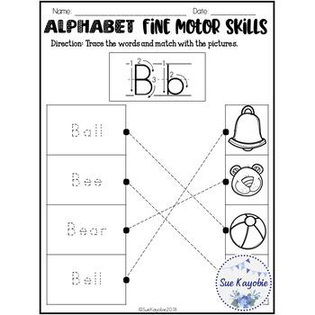 Alphabet Fine Motor Skills Set 1