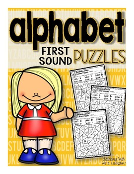 Alphabet First Sound Puzzles