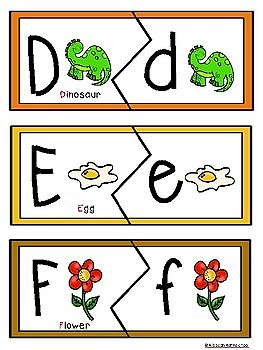 First Alphabet learning puzzles
