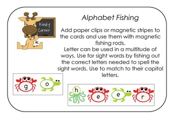 Alphabet Fishing