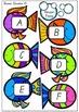 Alphabet Fishing - Capital and Lowercase Set - Australian Font